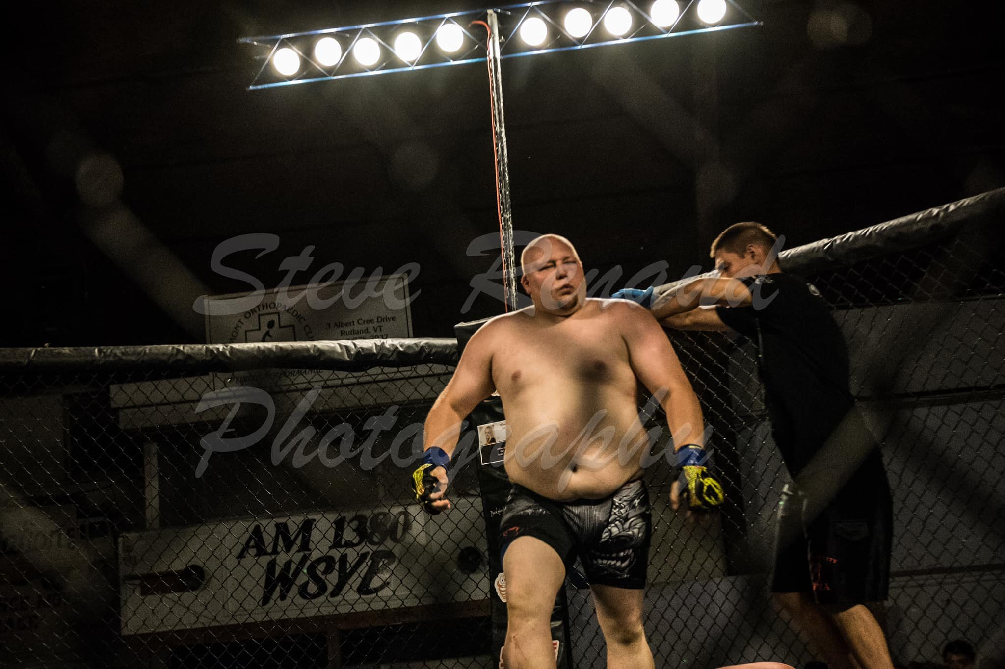 """RJ """"Bad Intentions"""" Hayes - RJ is a Heavyweight fighter that fights out of New York, Rj recently had his win streak broke losing to a very tough Mike Alessi at Cage Wars, He is looking to get back into the win column this Dec 21stIndependent fighter but has trained under Alex MarroFighting Style Muay Thai, BJJ"""
