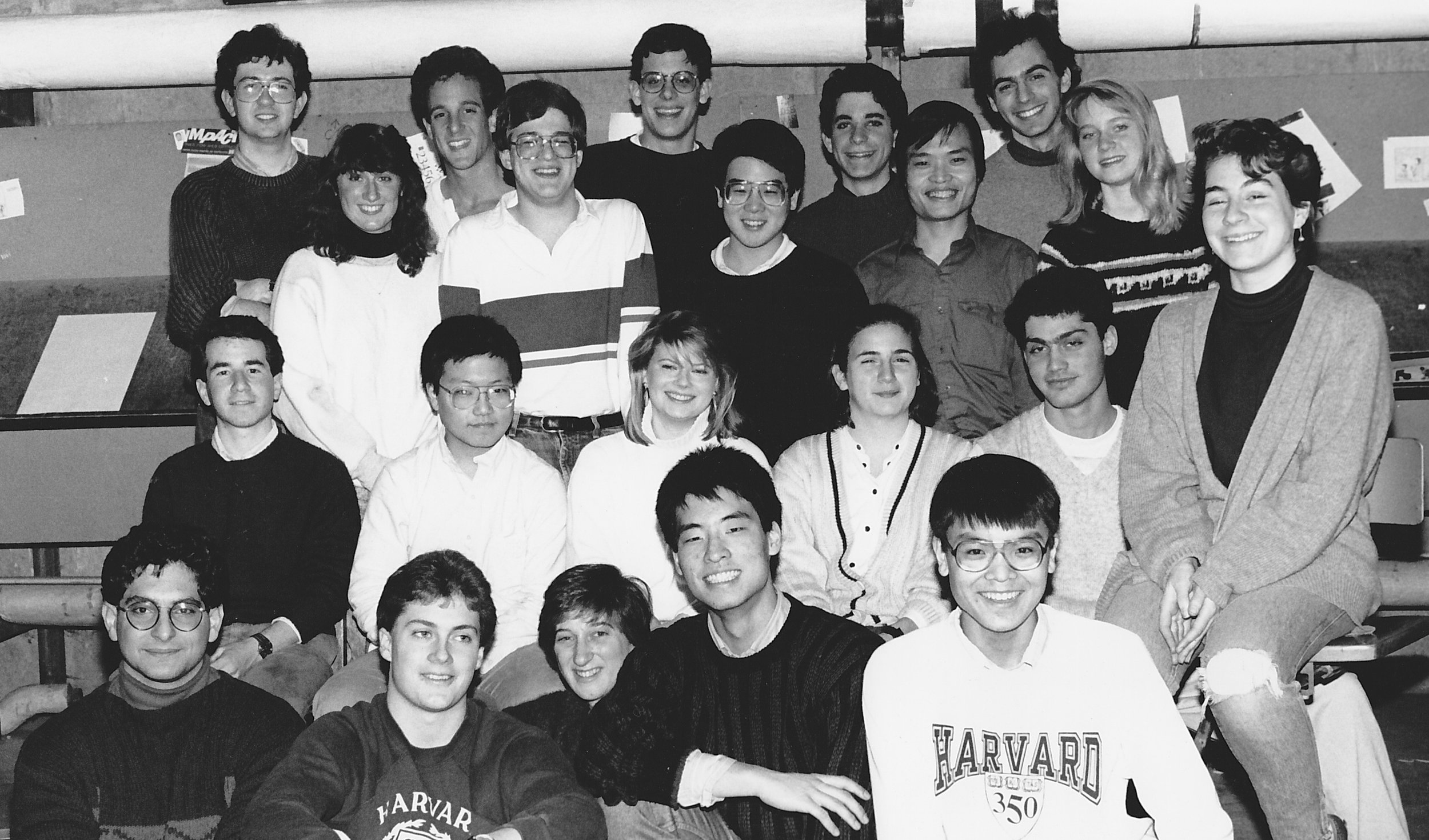 Indy staffers in 1988. That's me in the upper left corner.