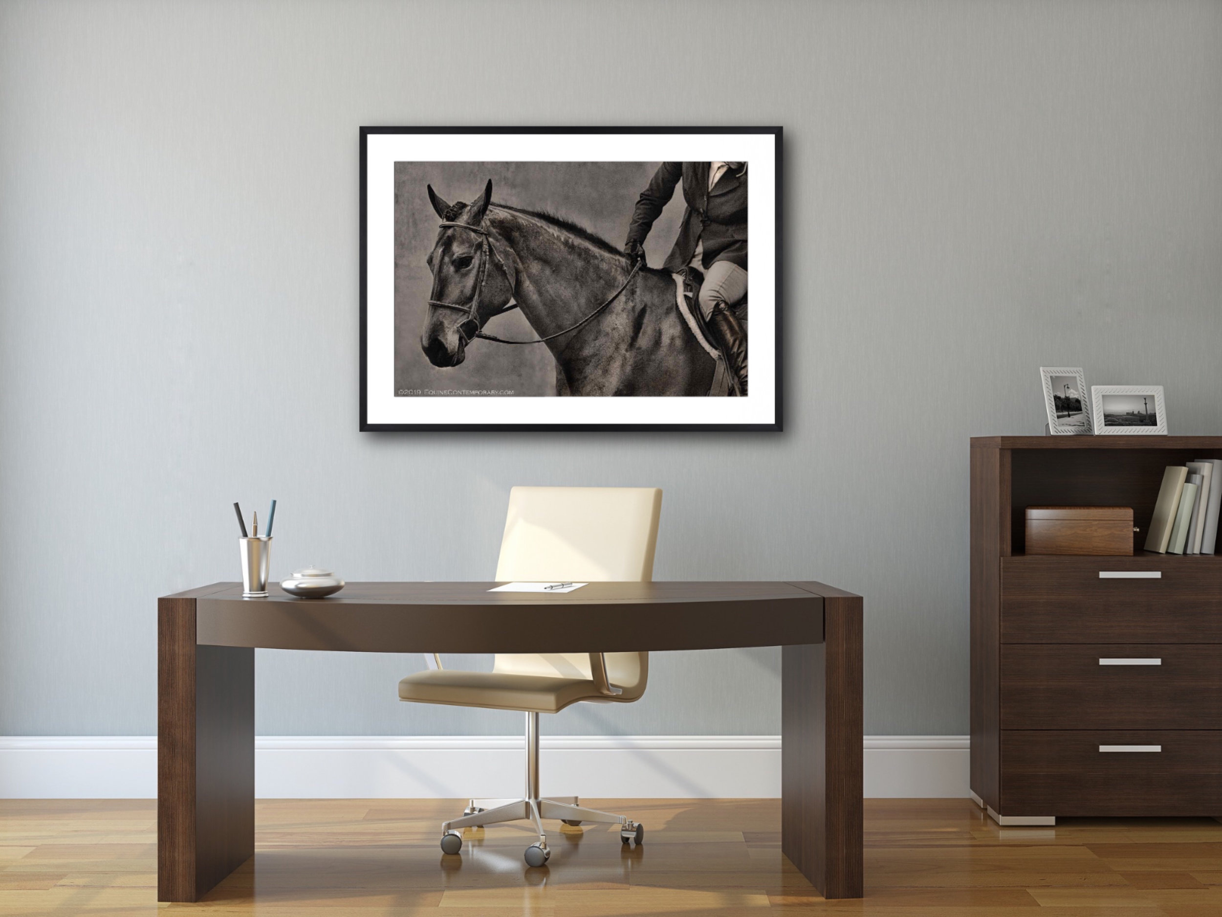 Archival pigment print on watercolor cotton paper,  matted and framed, accentuates our contemporary-classic feel, and will blend into nearly any room's style.