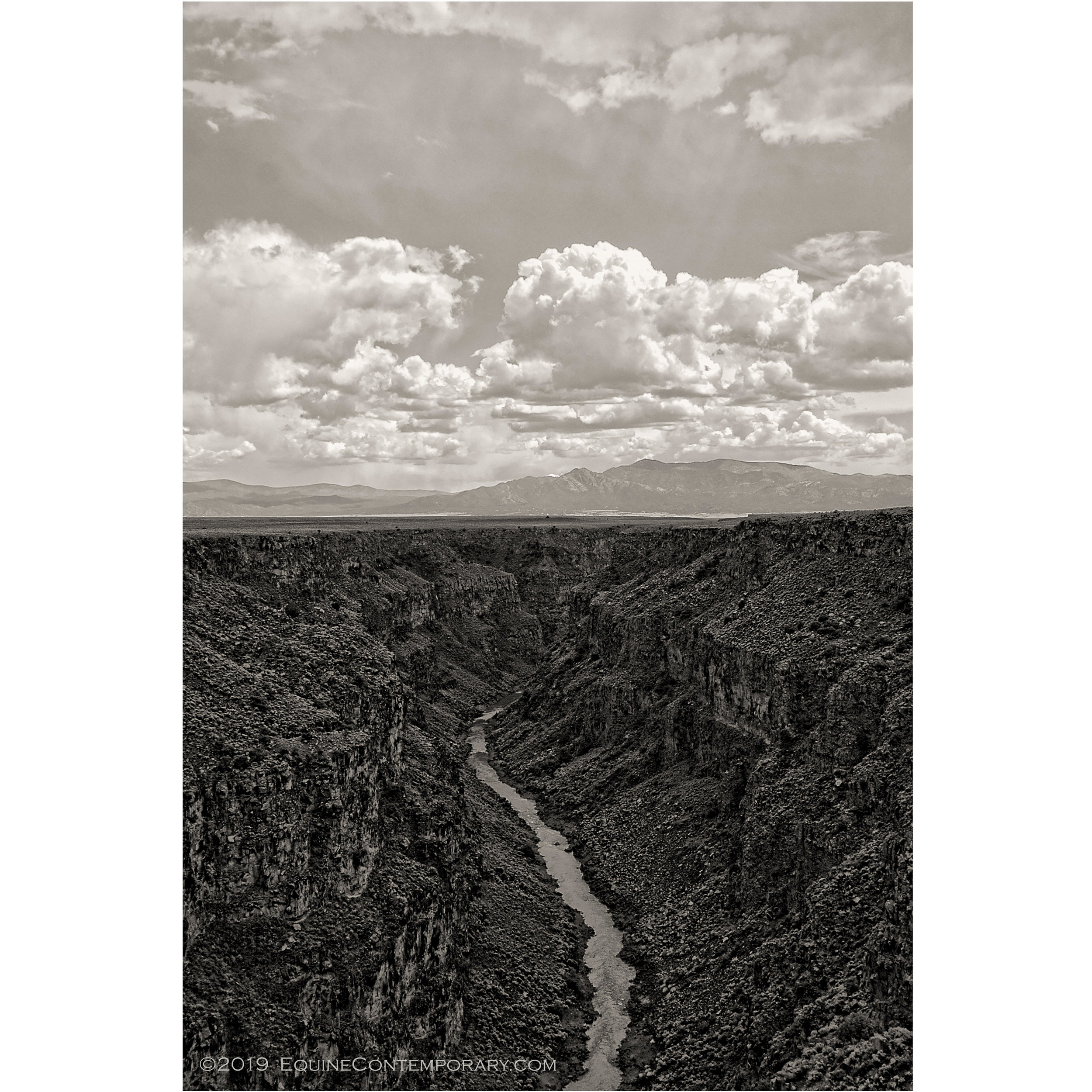 """Untitled, Rio Grande Gorge - Archival Pigment Print16"""" x 24"""" (+2 in. border) watercolor cotton paper $375.Dye Sub Metal Print16"""" x 24"""" (borderless) on recycled aluminum $895."""