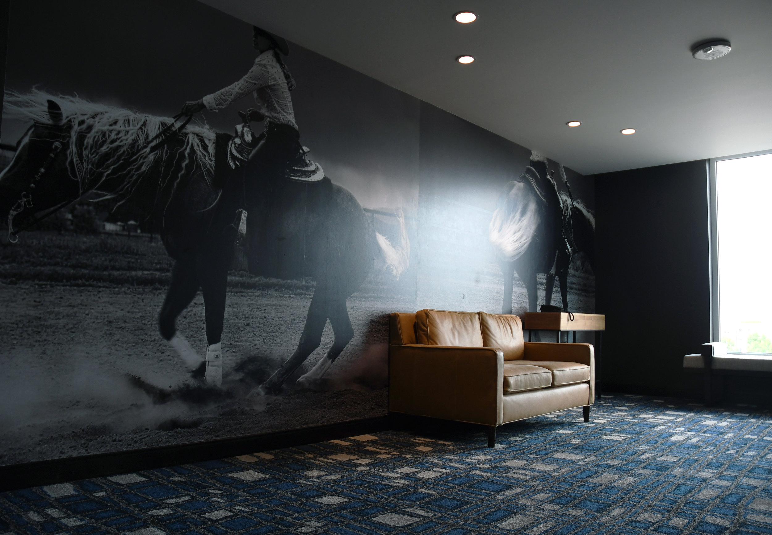 Doubletree by Hilton, Greeley  - Commission for Western-themed vinyl wall mural, 8' x 21'