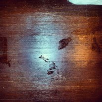 The infamous footprint photos.
