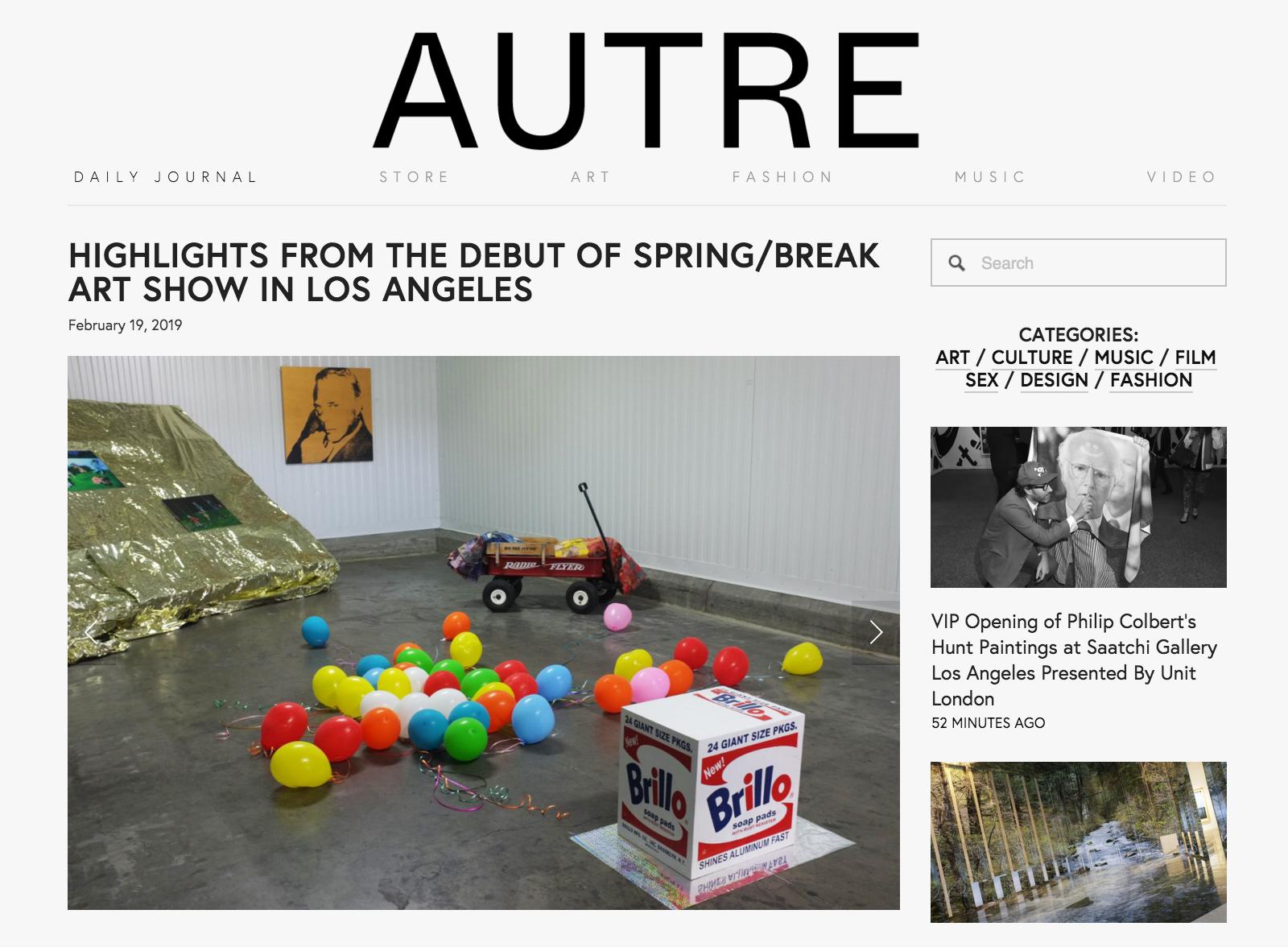 Autre: Highlights From Spring/Break Art Show LA