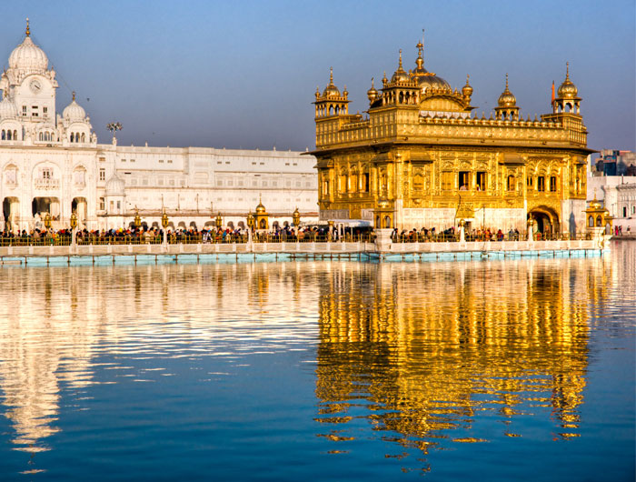 This one is The Golden Temple in Amritsar, India