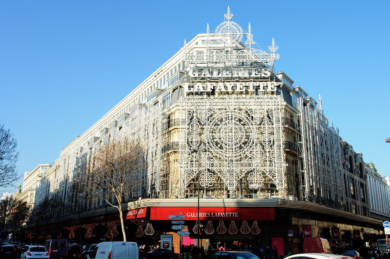 Galeries La Fayette at Christmas
