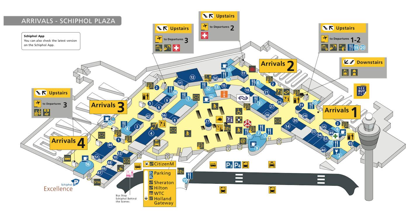 Schiphol Airport Arrivals - Schiphol Plaza
