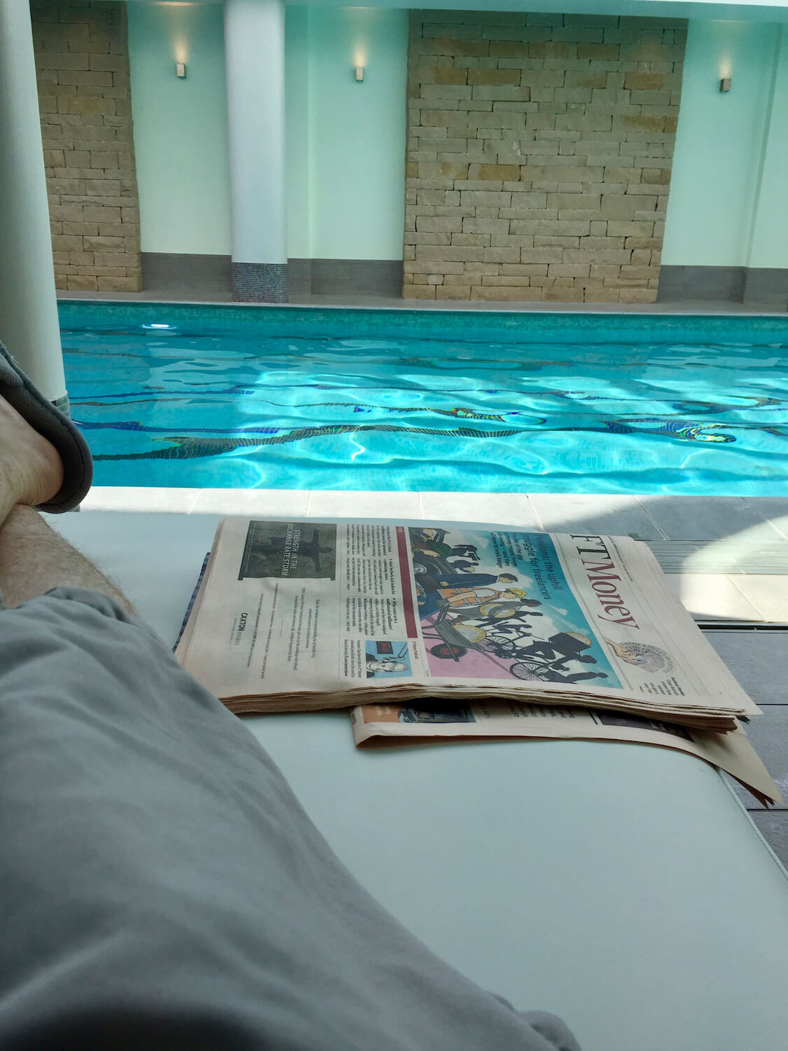 Old Course Kohlers Spa - Lounging With The Financial Times