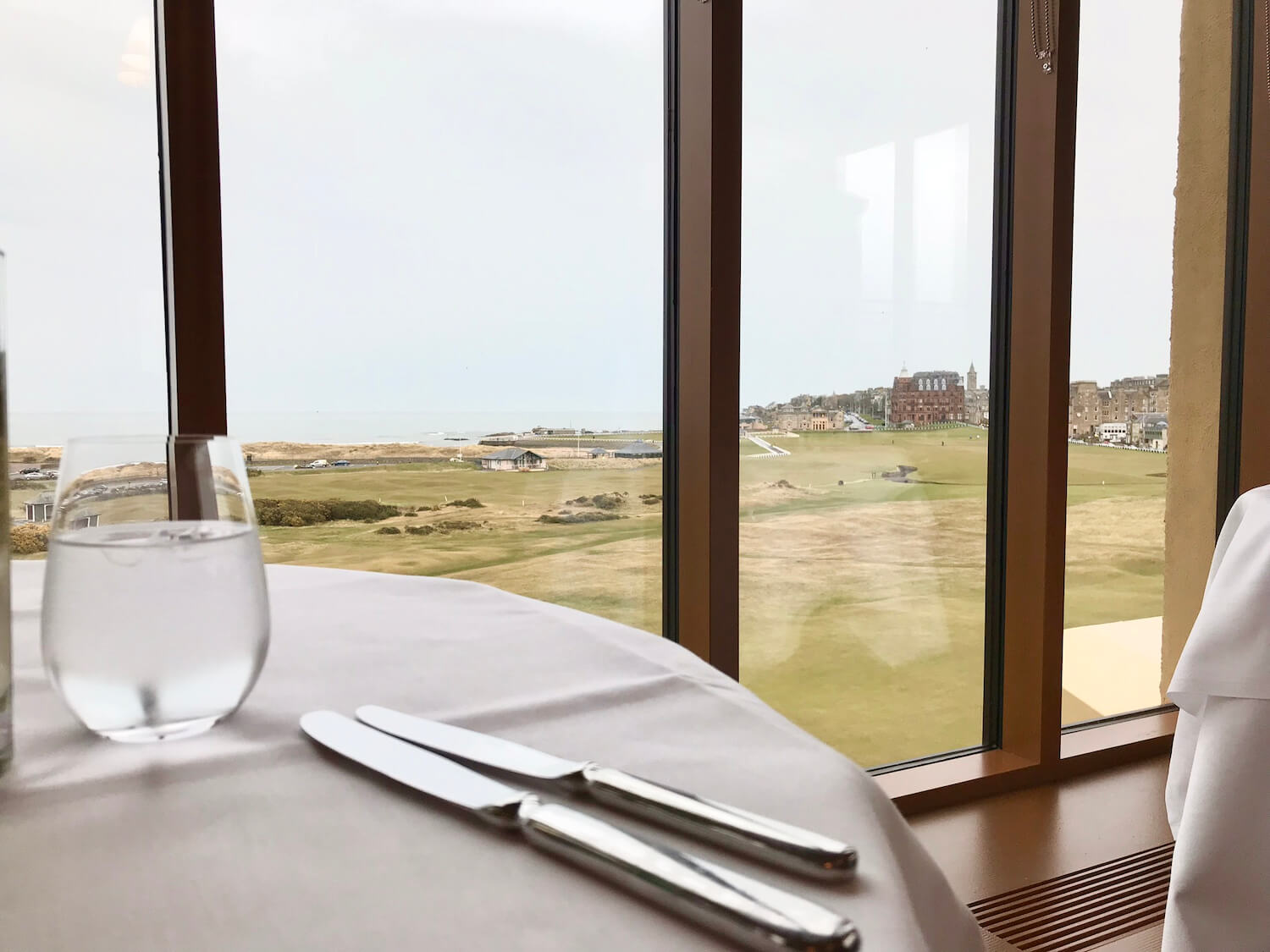 Road Hole Restaurant - View over St Andrews