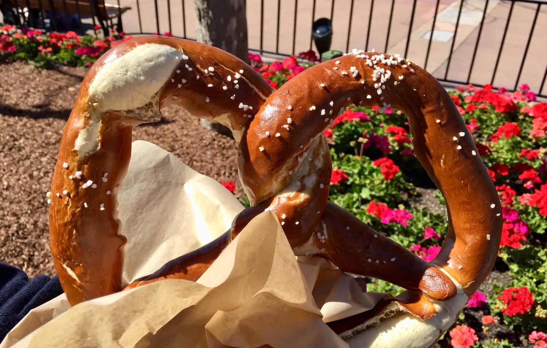 Jumbo Pretzel Epcot German Pavilion - Walt Disney World