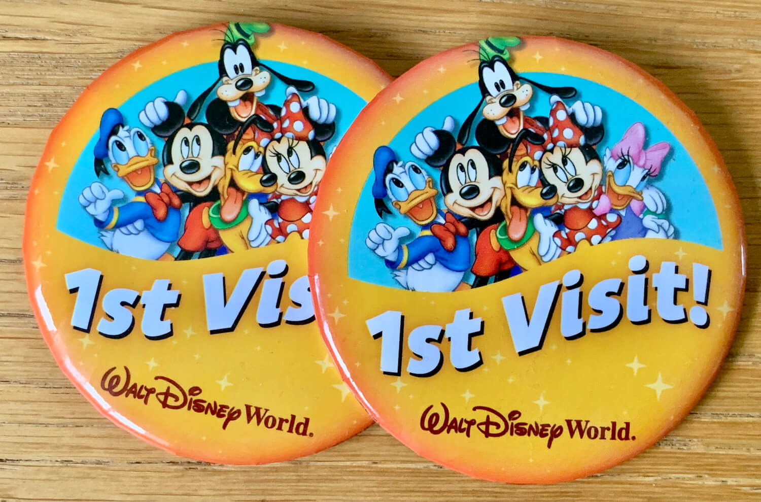 Walt Disney World Celebration Buttons 1st Visit