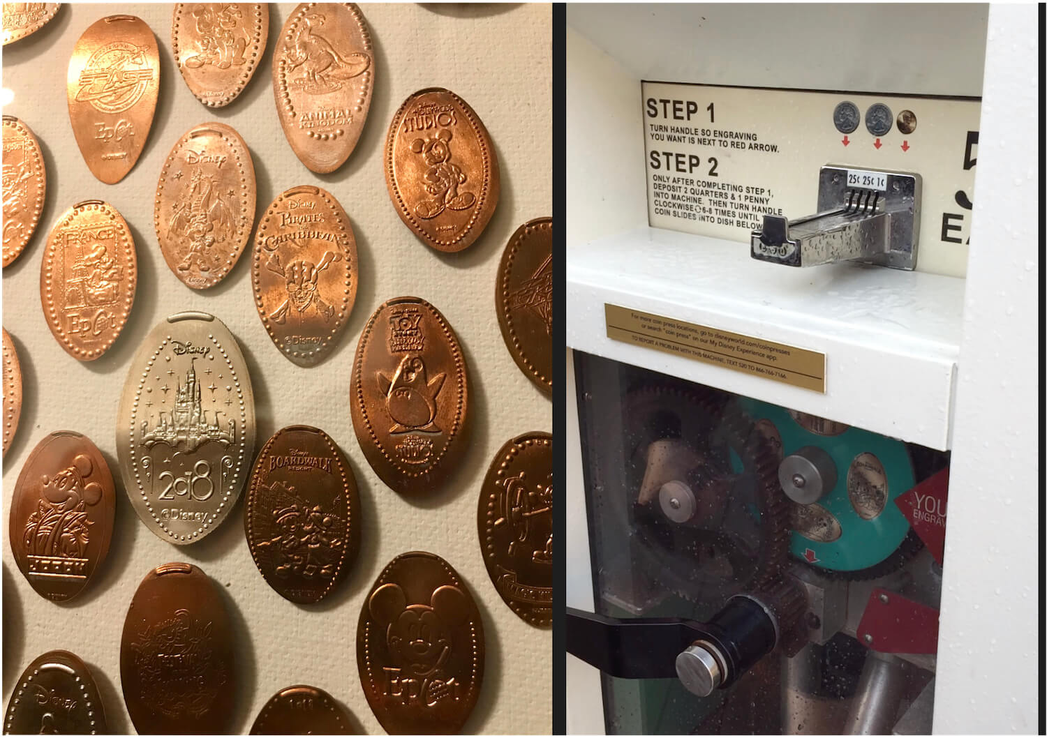 Walt Disney World Pressed Pennies Coin Presser Machine