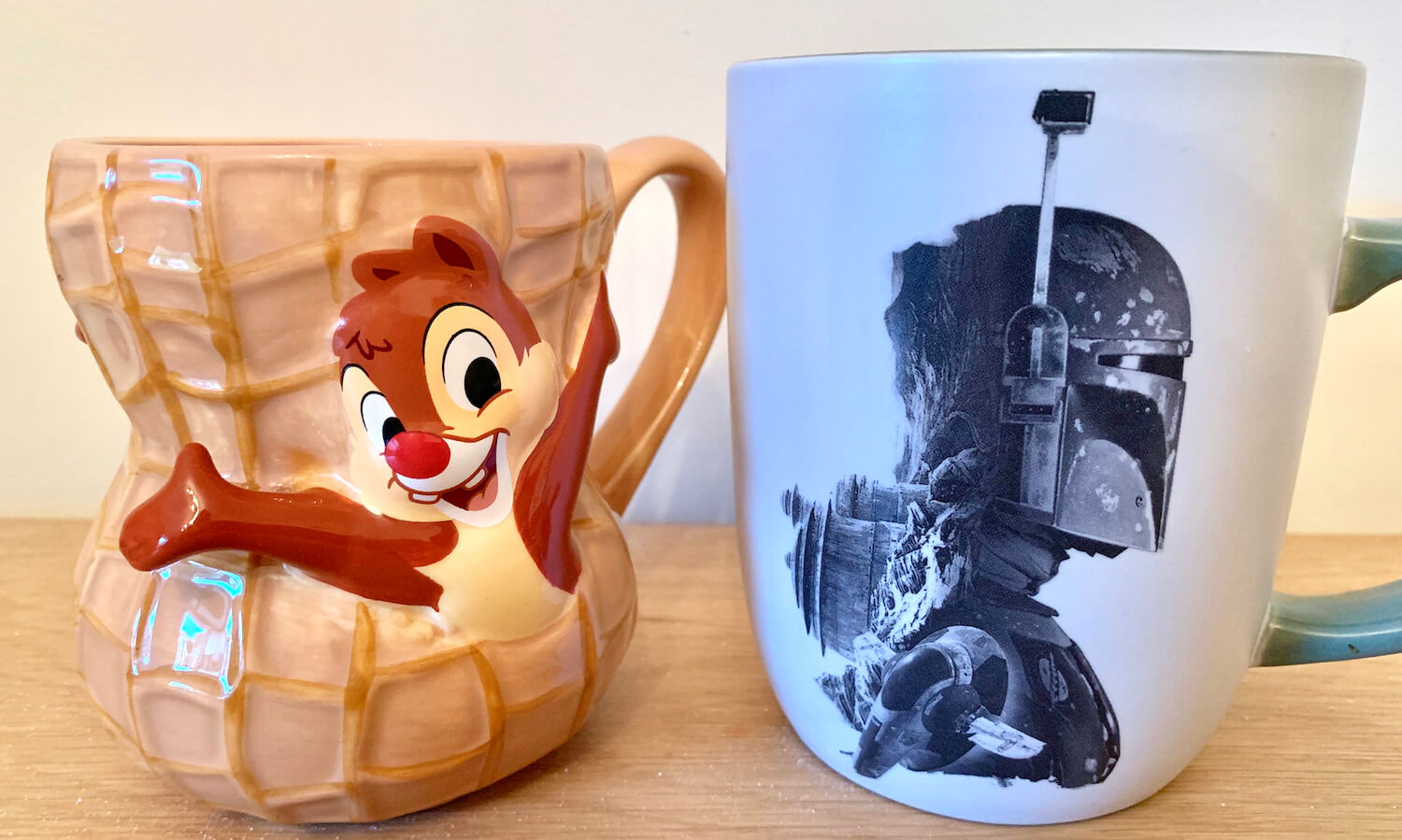 Walt Disney World Mugs Chip and Dale Peanut Boba Fett Star Wars