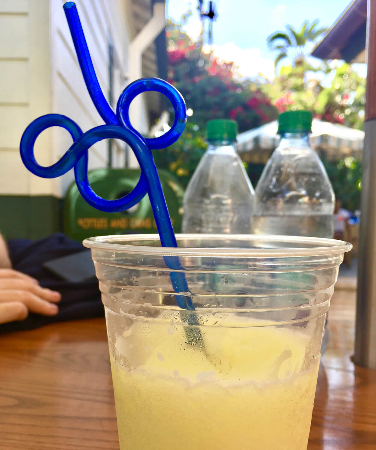 Mickey Straw in Blue Minute Maid frozen lemonade