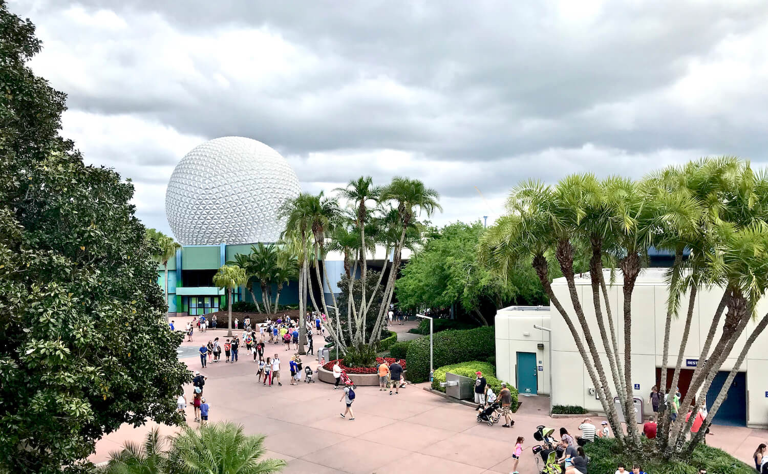Epcot Globe - Spaceship Earth From The Monorail