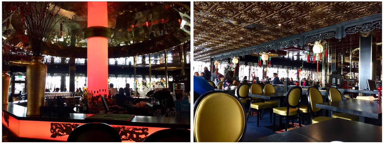 Sea Palace Architecture - gold ceilings, bar, oriental design