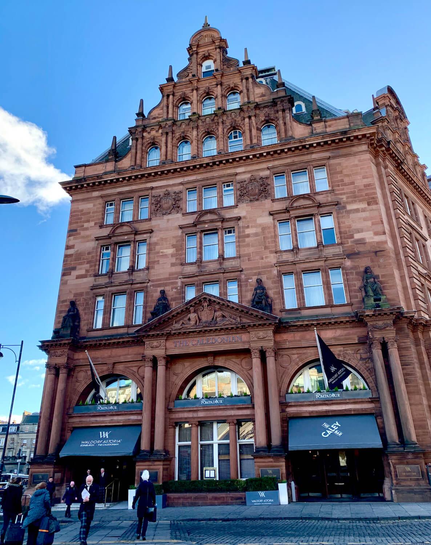 Waldorf Astoria Edinburgh - Front of Hotel