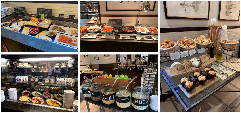 Waldorf Astoria Edinburgh - Breakfast Buffet Selection - hot and continental