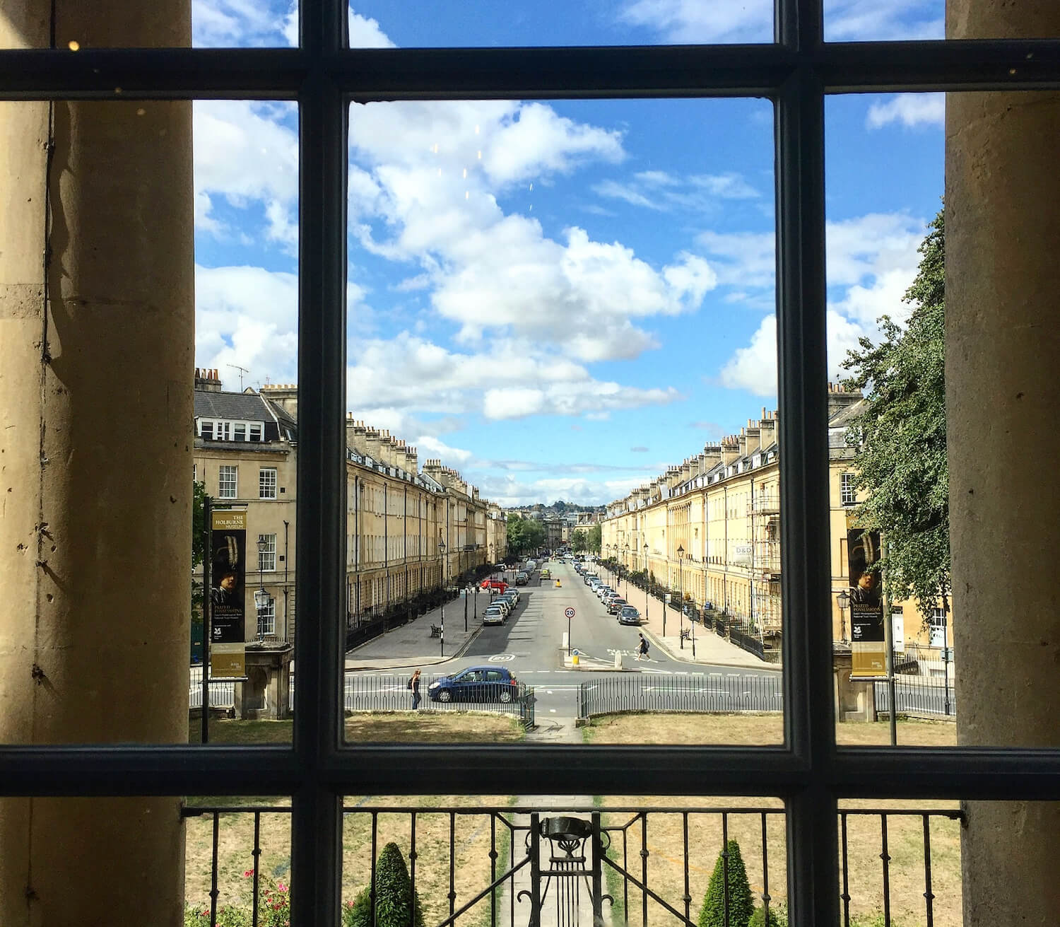 View out of Window - Bath, Somerset