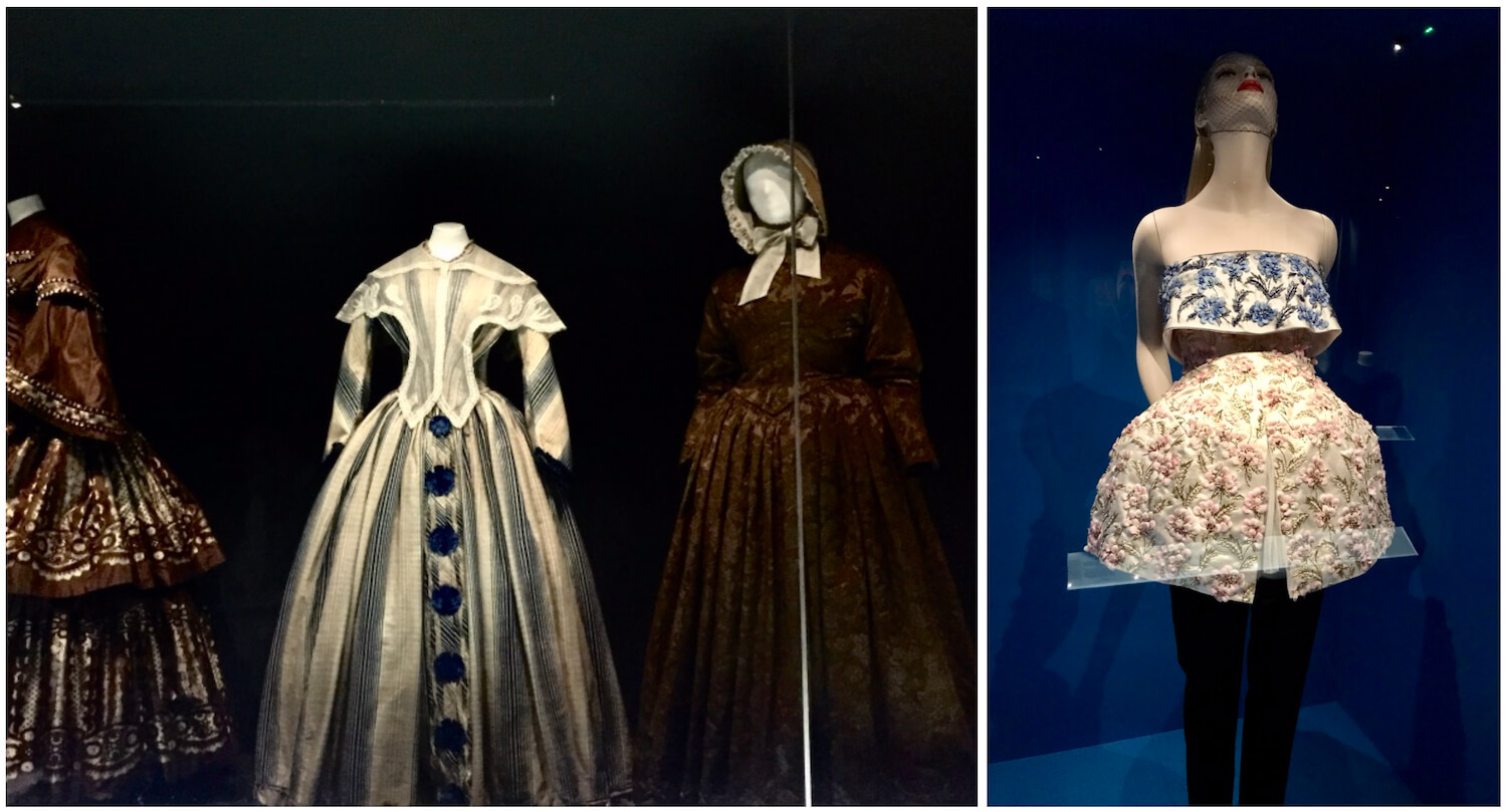 Bath, Somerset - The Fashion Museum - Historic to Contemporary Dress - (right) Raf Simons For Christian Dior