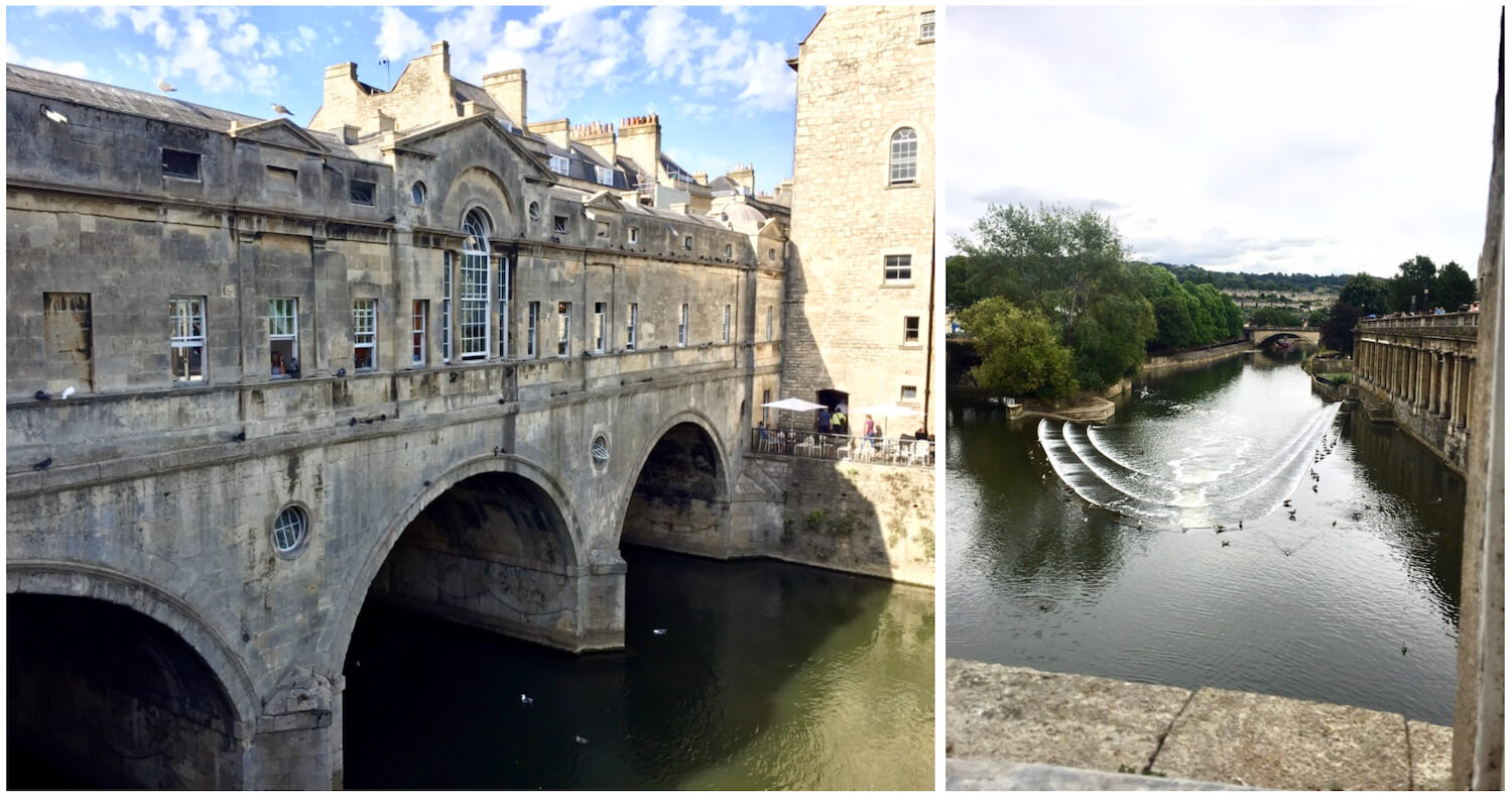 Bath, Somerset - Palladian style Pulteney Bridge and Weir