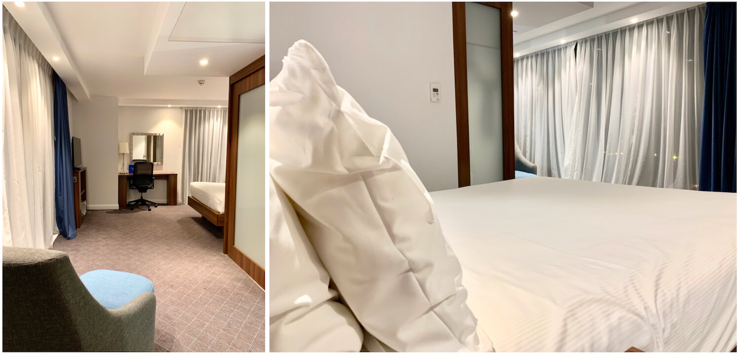 Queen Room Chair, Space and Bed - Hampton By Hilton Hotel, Dundee