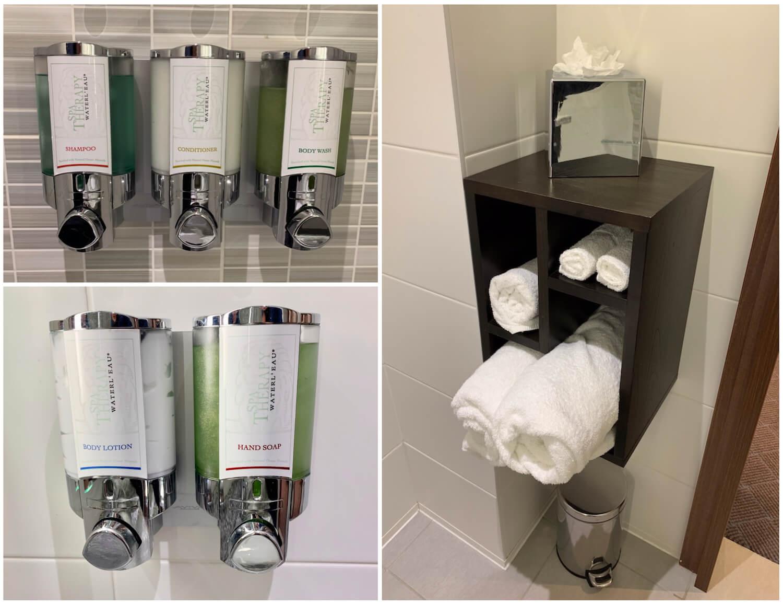 Queen Room Bathroom Toiletries and Towels - Hampton Hotel, Dundee