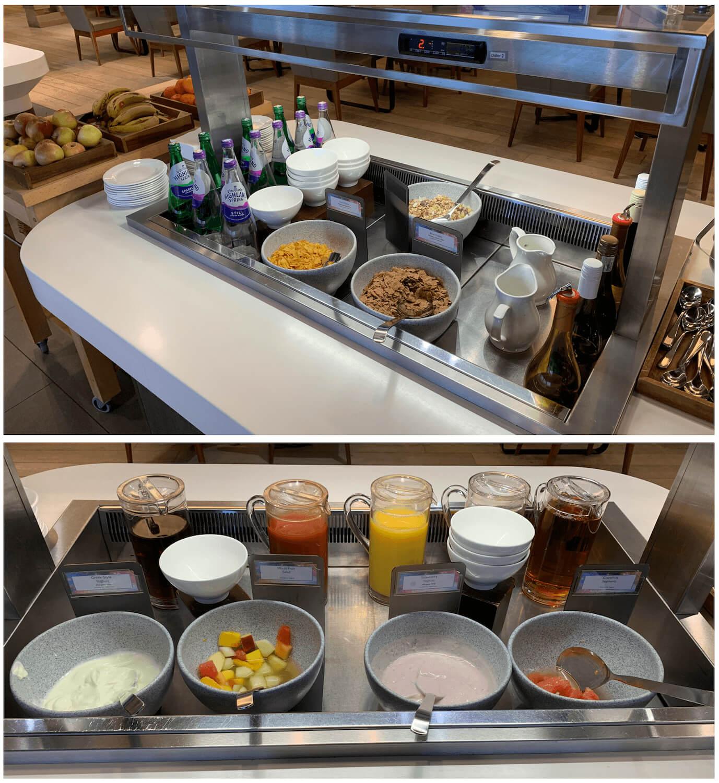 British Airways Lounge - Glasgow Airport - Cold Food