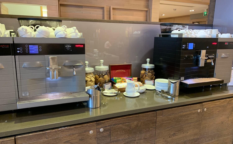 British Airways Lounge - Glasgow Airport - Hot Drinks