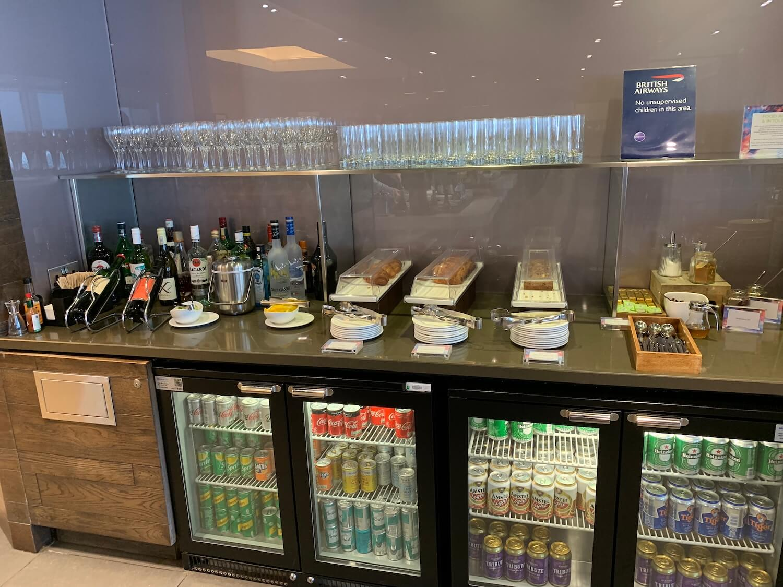 British Airways Lounge - Glasgow Airport - Alcoholic Drinks.jpg