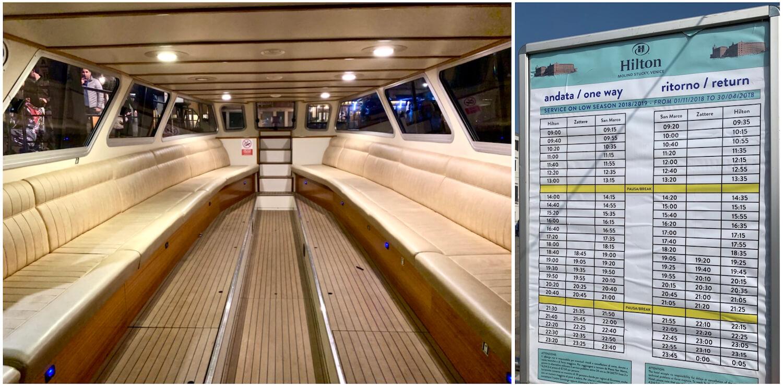 Hilton Molino Stucky Venice - Shuttle Boat and Times