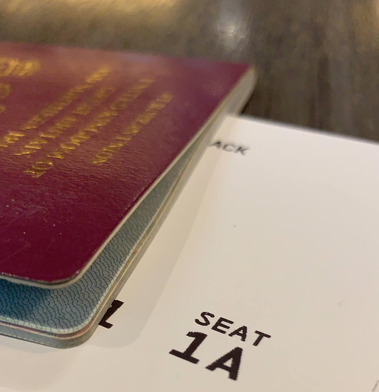 British Passport and Seat 1A - British Airways Club Europe