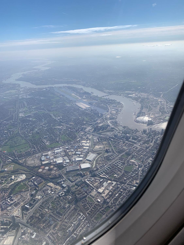 British Airways Club Europe Airbus A321 London Window View