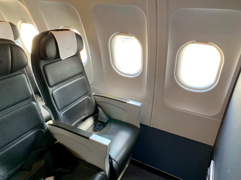 British Airways Club Europe Airbus A321 Black Leather Seat 1A