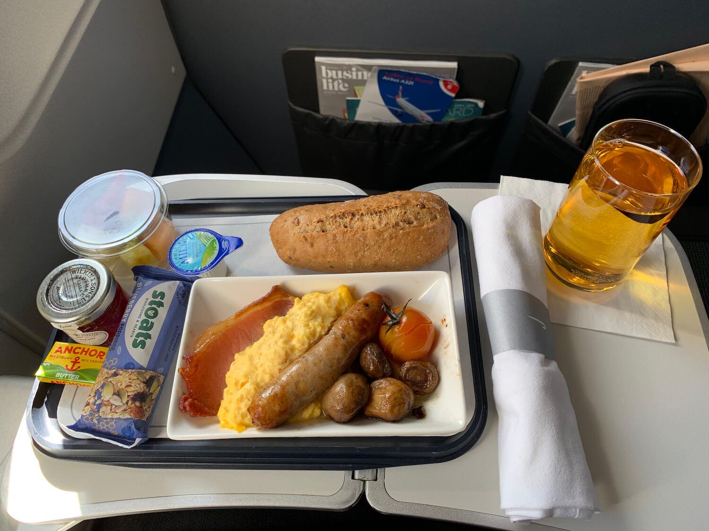 British Airways Club Europe Airbus A321 Full English Breakfast