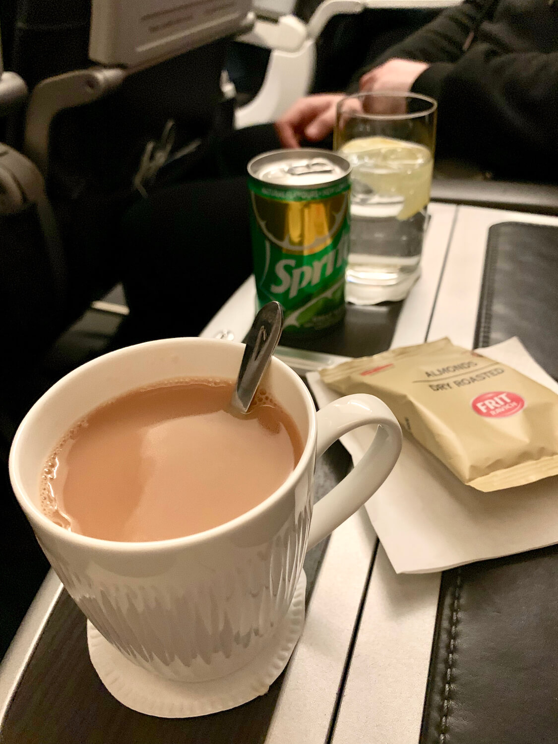British Airways Club Europe Airbus A320 Hot and Cold Drinks