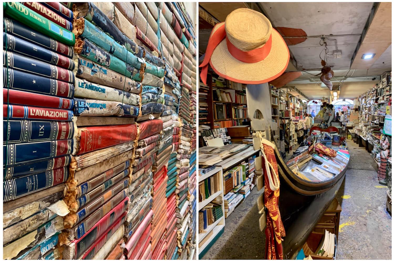 Acqua Alta Book Shop - Venice on a Budget - Italy