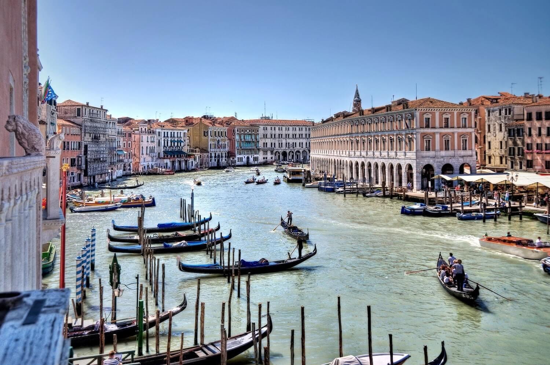Traghetto and Gondolas in Venice - Grand Canal