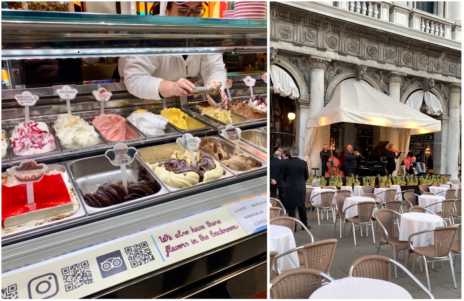 Gelato Fantasy and Caffe Florian in Venice, Italy - Budget
