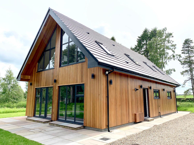 Our Departure Board - Newlands Lodges Review - Cedar Lodge ExternaL