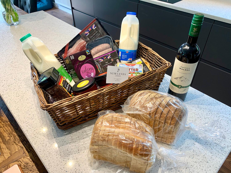 Our Departure Board - Newlands Lodges Review - Food Hamper