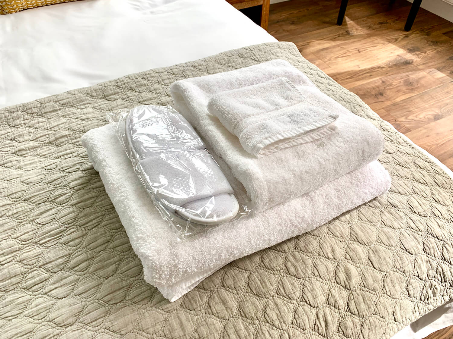 Our Departure Board - Newlands Lodges Review - Towels and Slippers