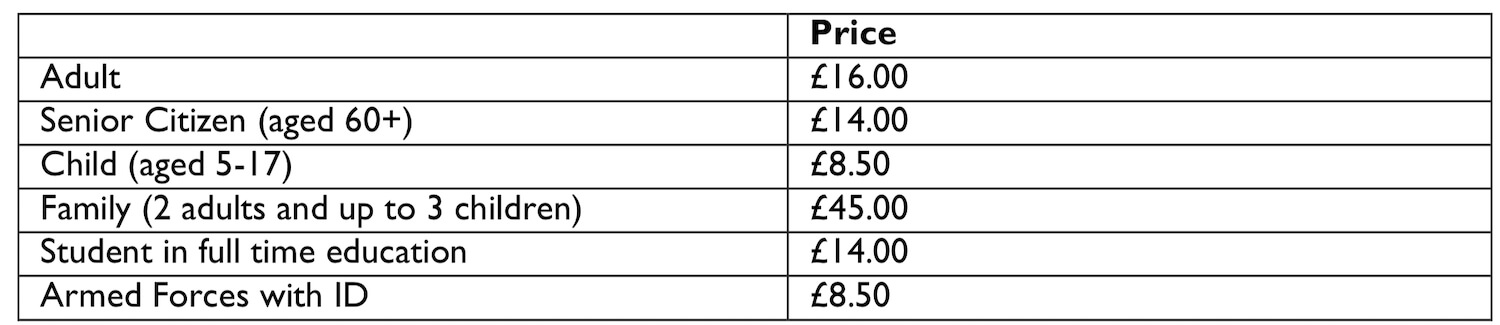 Our Departure Board - Royal Yacht Britannia Admission Prices