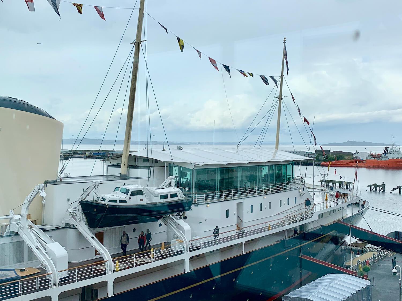 Our Departure Board - Royal Yacht Britannia - Royal Deck Tea Room External Glass Box