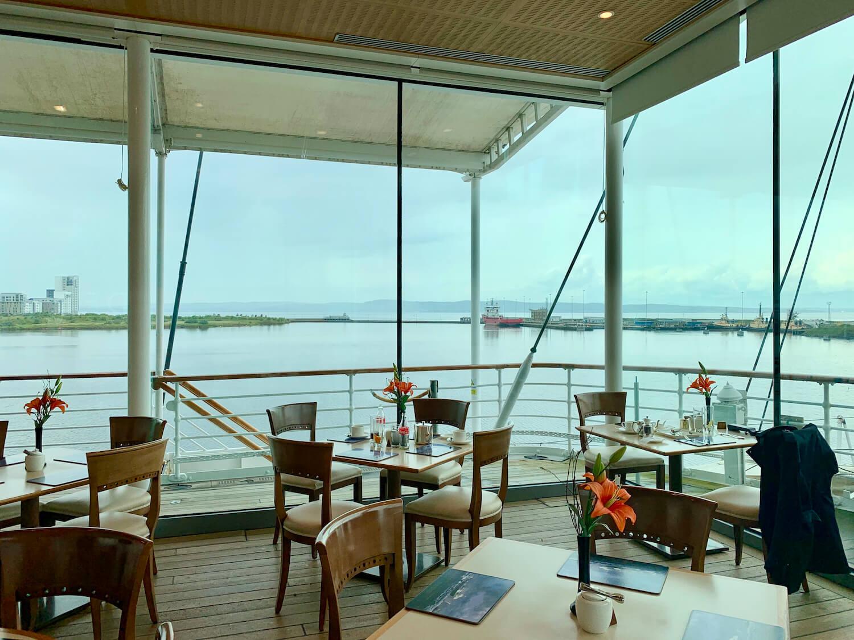 Our Departure Board - Royal Yacht Britannia - Royal Deck Tea Room Internal Tables