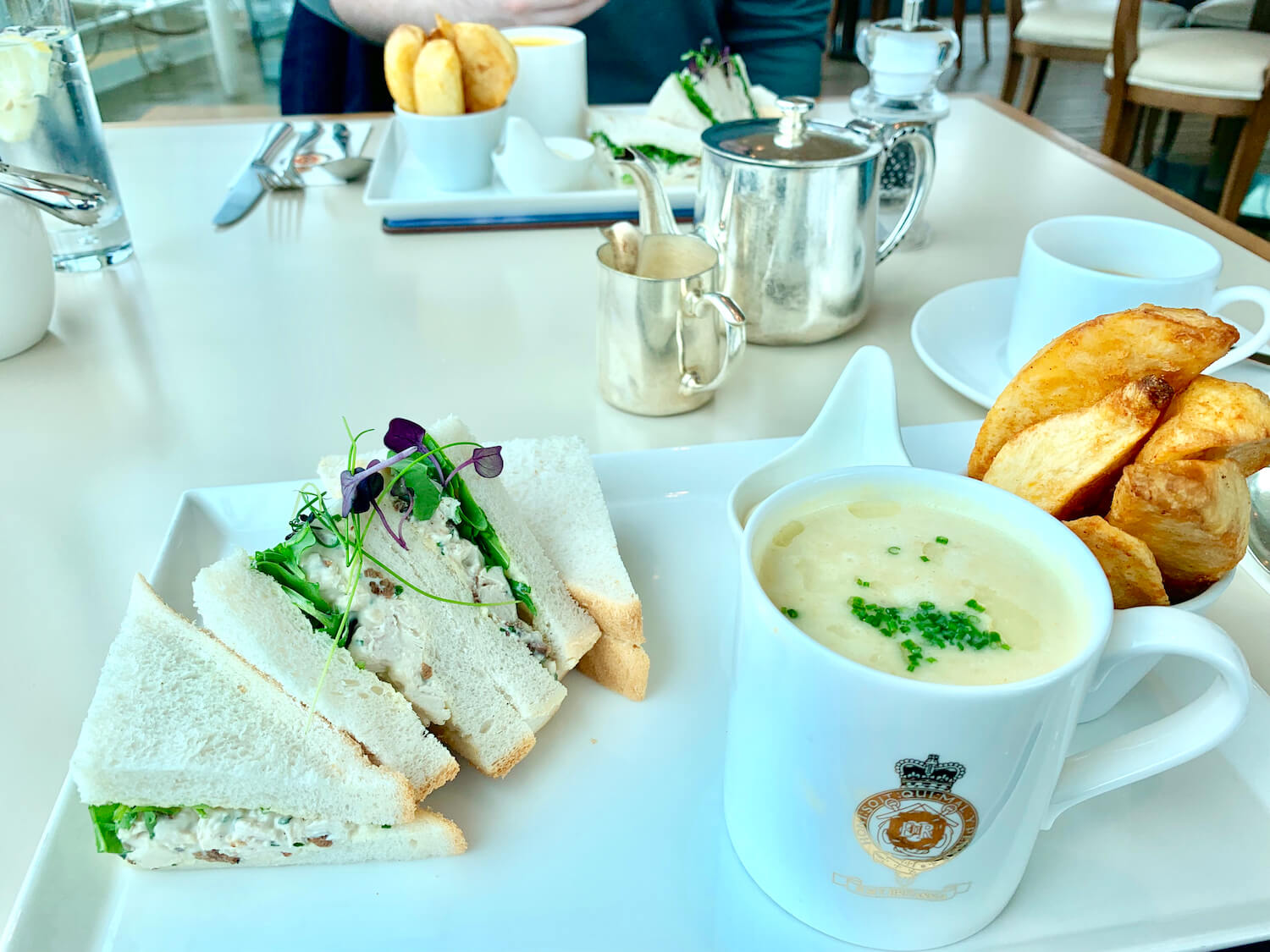 Our Departure Board - Royal Yacht Britannia - Royal Deck Tea Room Soup and Sandwich