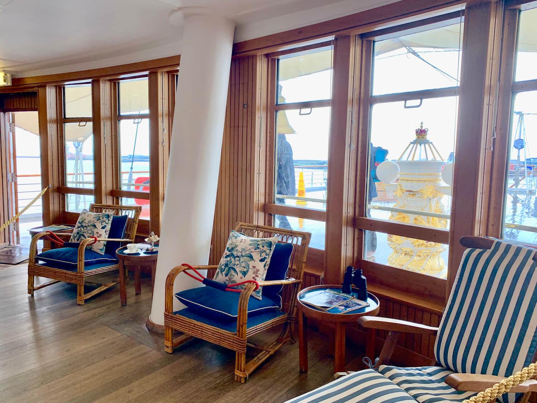 Our Departure Board - Royal Yacht Britannia - Sun Room