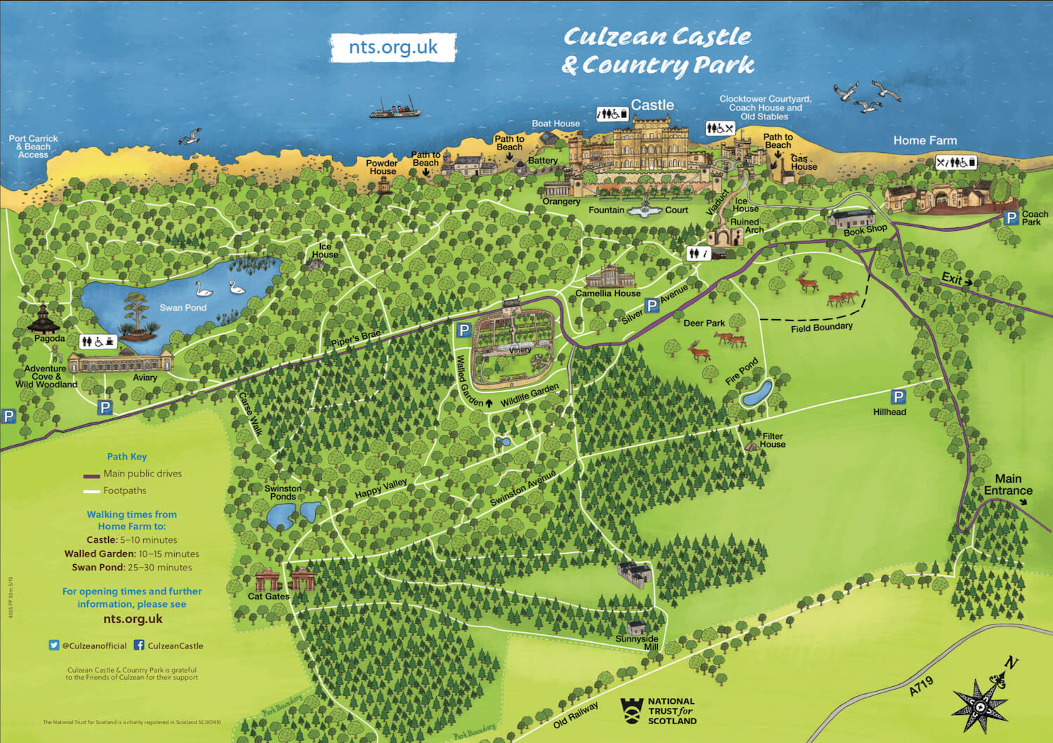 Culzean Castle and Country Park - Grounds Map - Visitors Guide