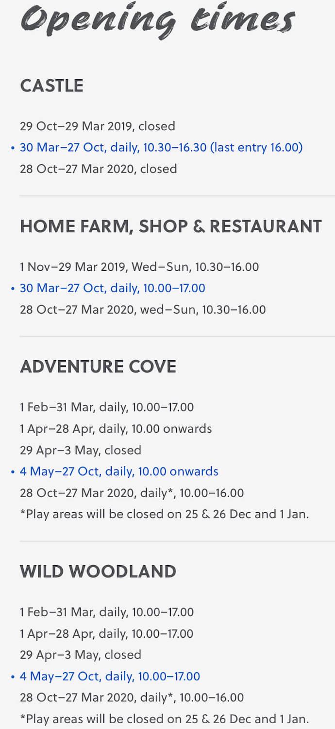 Culzean Castle and Country Park - Opening Times