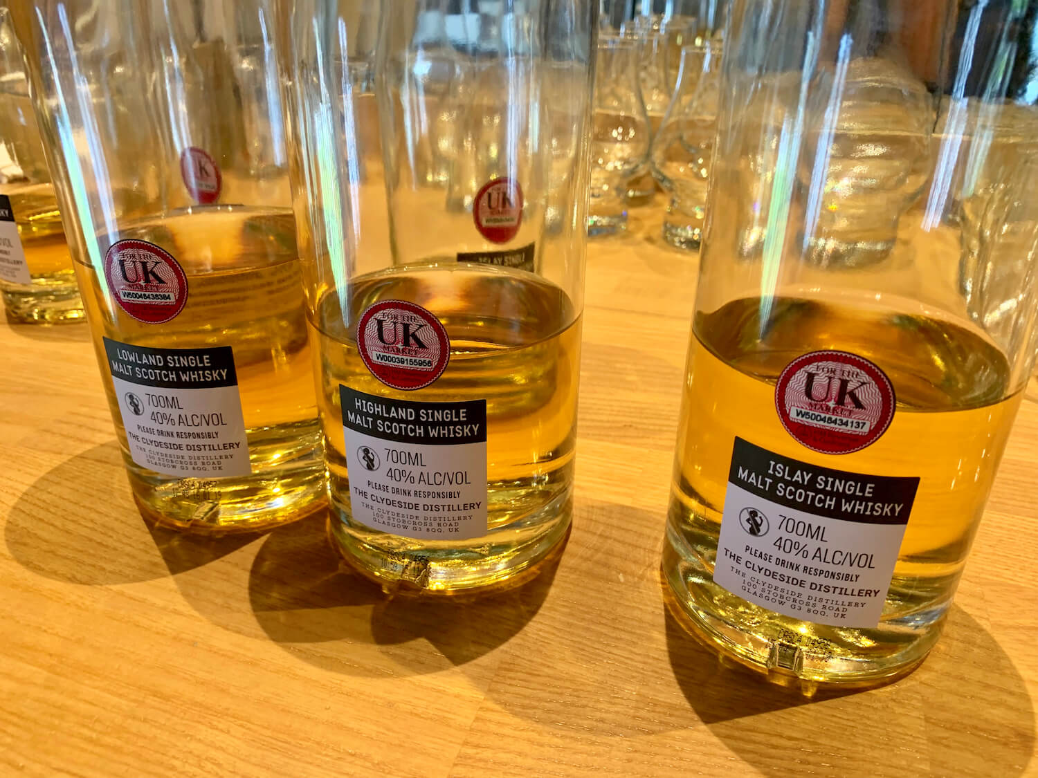 The Clydeside Distillery - Tasting Whiskies - Highland, Lowland and Islay