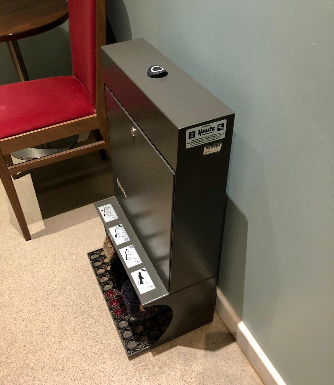 Shoe Shining Machine - Hilton Garden Inn Luton North